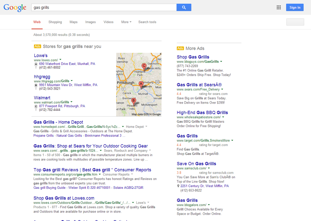 google-testing-100percent-paid-listings