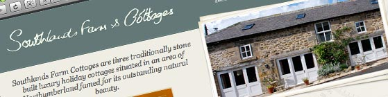 Southlands Farm Cottages Web Site Screengrab